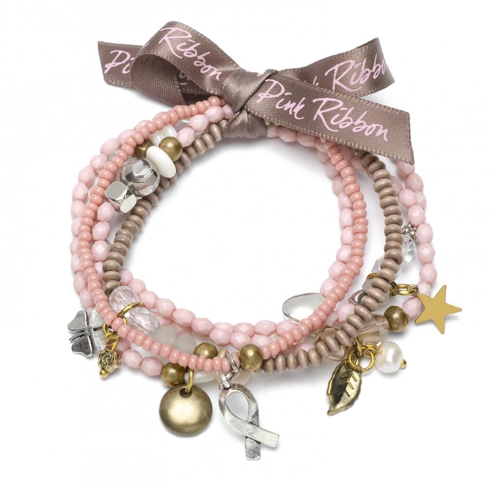 Pink Ribbon geluksarmband 2012