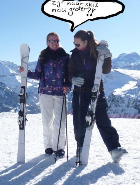 Wintersport 2012 zussie en ik