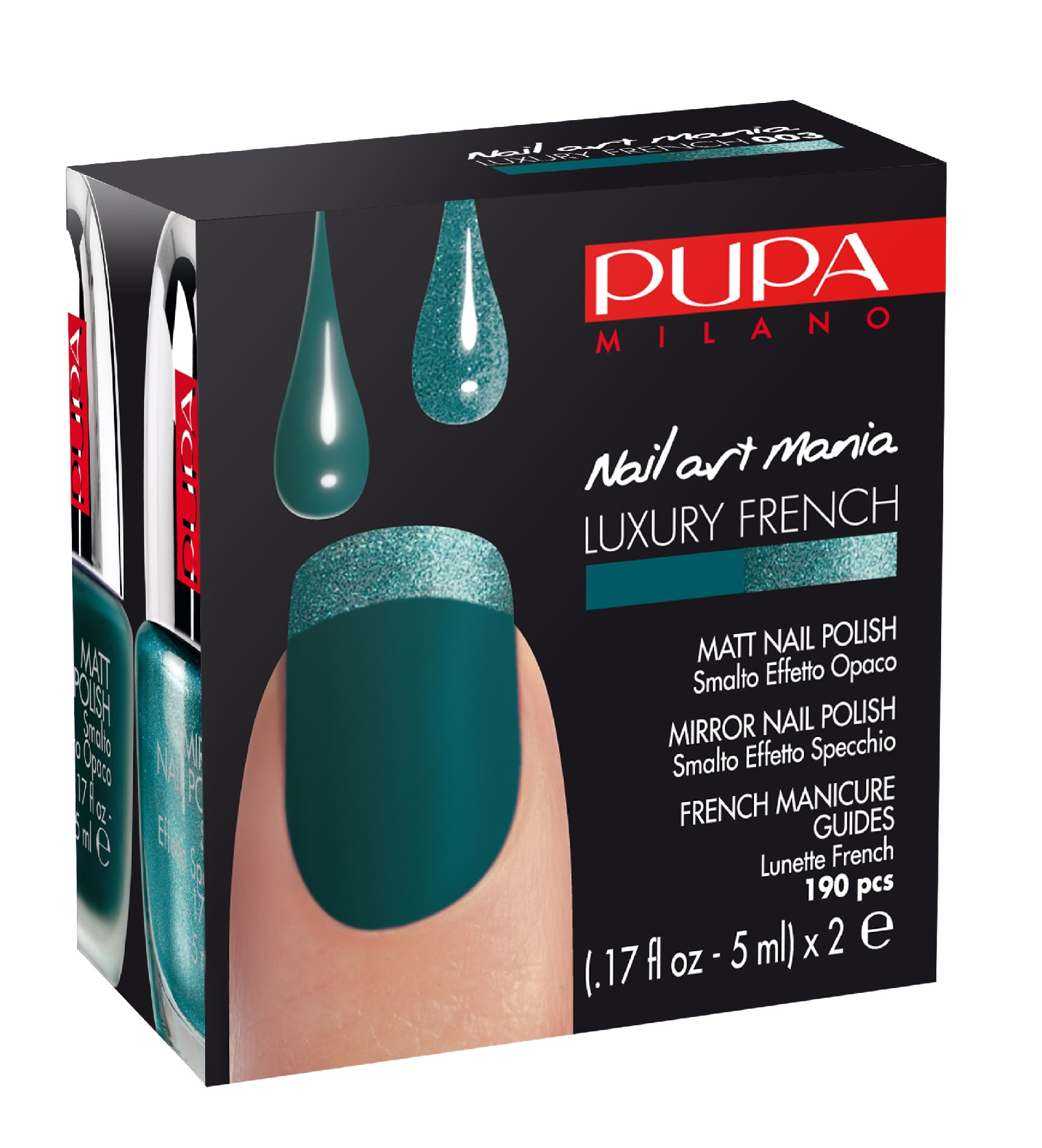 Nail Art Mania - Luxury French Matt Nail Polish - Mirror Nail Polish - pack1