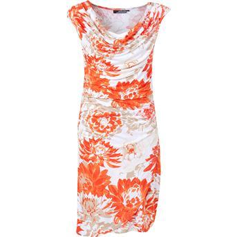 Scapino oranje wit jurk