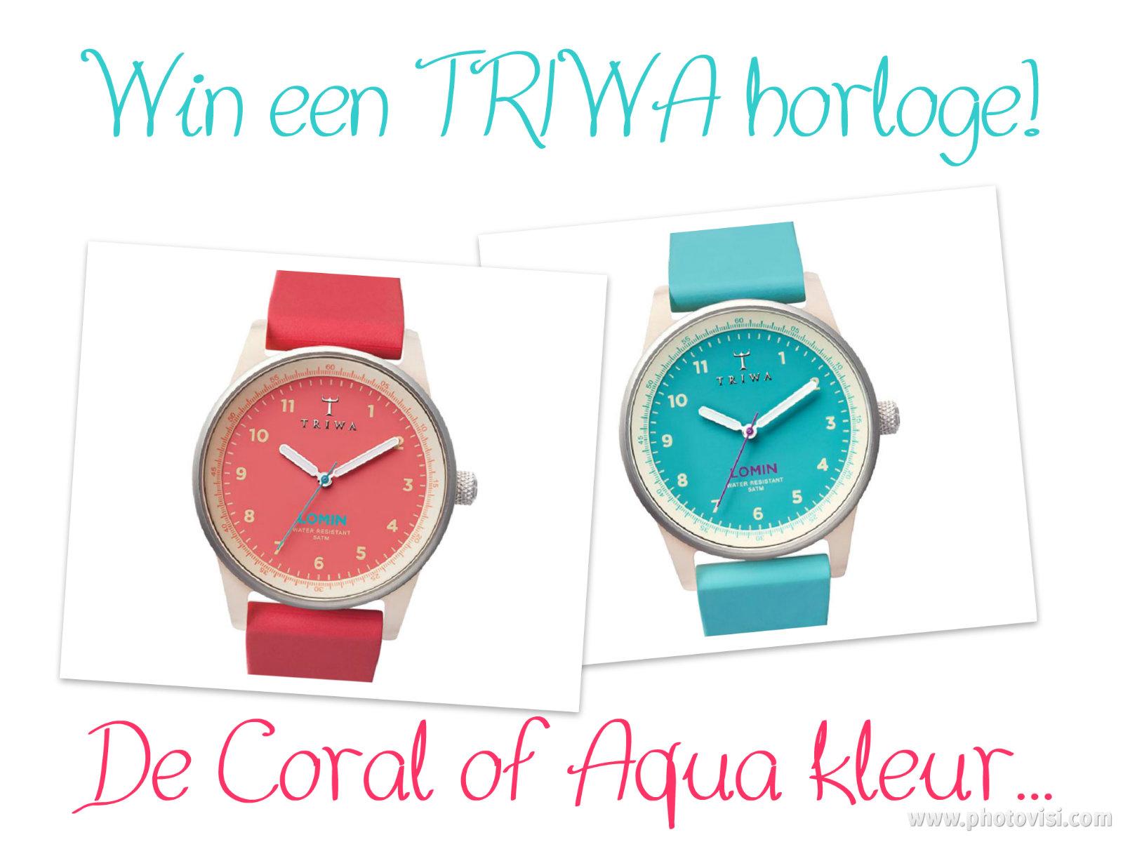 Winactie TRIWA horloges Coral en Aqua